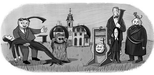 Google Doodle per Charles Adams della Famiglia Addams