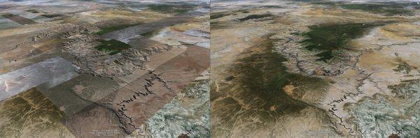 Google Earth, nuovo motore di rendering