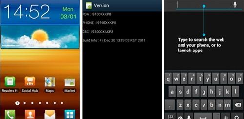 Android ICS su Samsung Galaxy S II