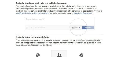 impostazioni privacy