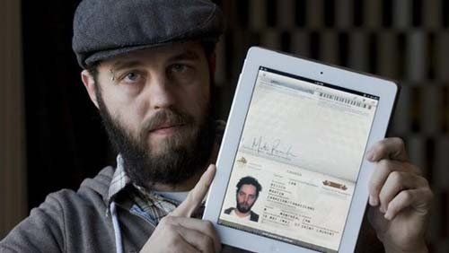 iPad e passaporto