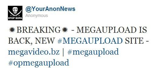 Gli Anonymous annunciano il rilancio di Megaupload