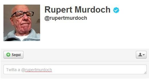 Rupert Murdoch su Twitter