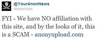Anonymous tagliano con Anonyupload