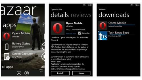 Bazaar Windows Phone