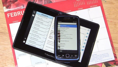 BlackBerry PlayBook 2.0 Sync Outlook
