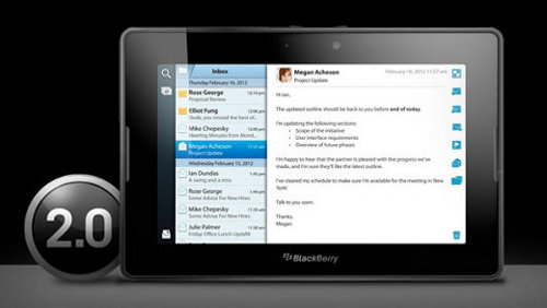 BlackBerry PlayBook OS 2