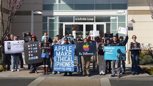 Foxconn proteste Cupertino