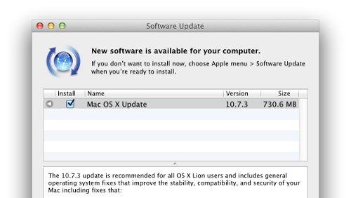 Mac OS X 10.7.3