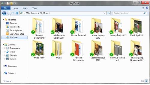 SkyDrive Windows 8