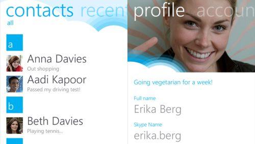 Skype 1.0 Windows Phone 7.5