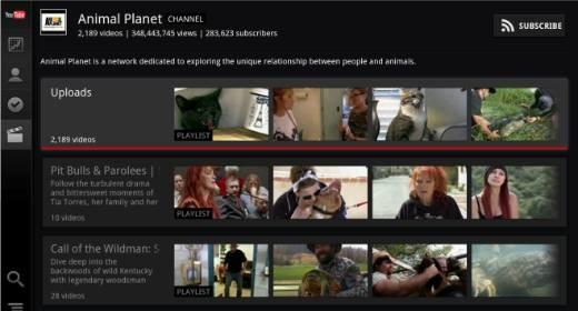 YouTube per la Google TV