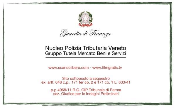 La Guardia di Finanza chiude ScaricoLibero.com e FilmGratis.tv