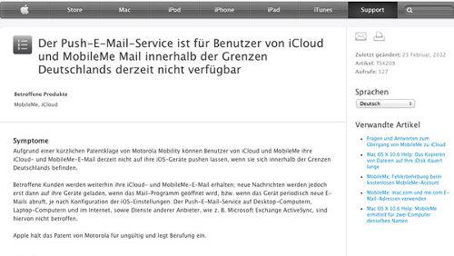iCloud Germania