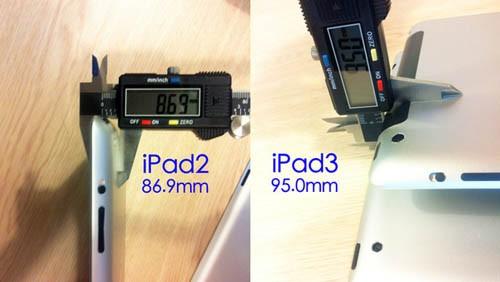 iPad 3, spessore