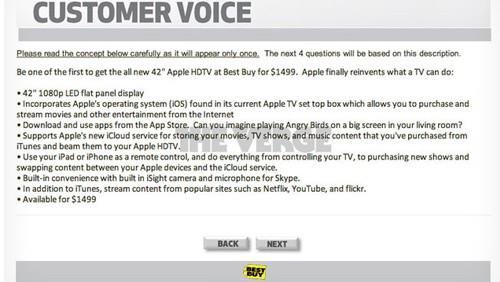 Sondaggio Best Buy su Apple iTV