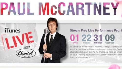 Paul McCartney su iTunes