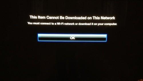 Apple TV errore