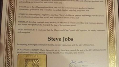 Steve Jobs, premio