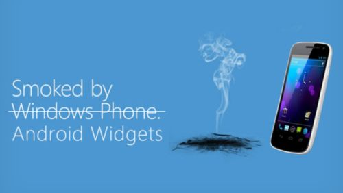Windows Phone Smoked by Android