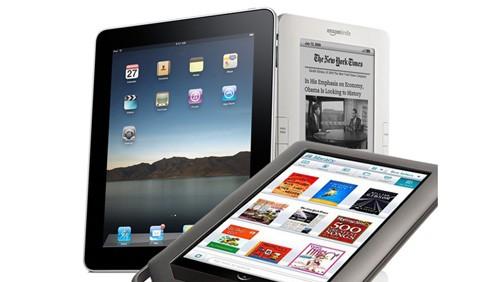 iPad, Nook, Amazon Kindle