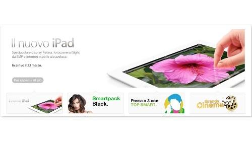 Nuovo iPad in arrivo con 3 italia