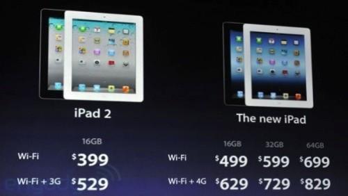Confronto iPad 2 e nuovo iPad