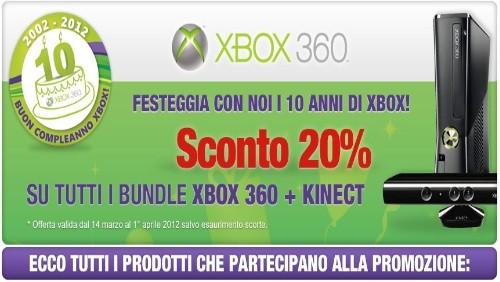 mediaworld, promozione Xbox 360 e kinect