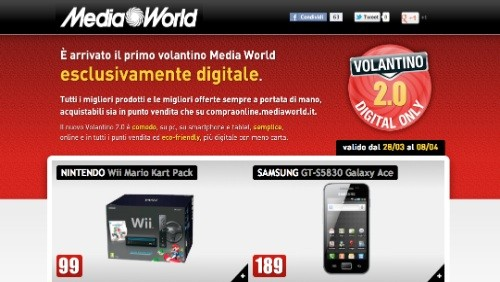 mediaworld, il nuovo volantino 2.0