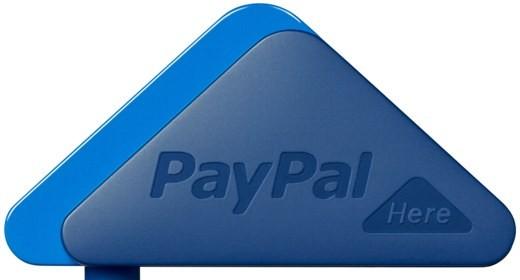 PayPal Here: triangolo blu e carta di credito
