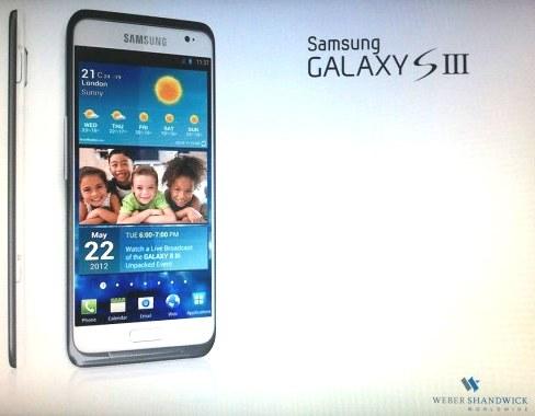 La prima immagine del Galaxy S III
