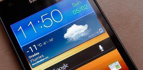 Samsung Galaxy S II con Android 4.0 ICS