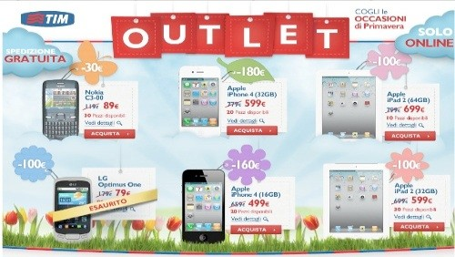 tim outlet, offerte iphone e ipad