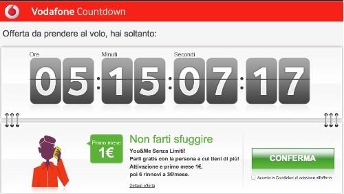 vodafone countdown, you&me senza limiti