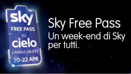Free Pass, Sky gratis sul digitale terrestre