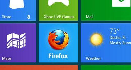 Firefox Metro live tile