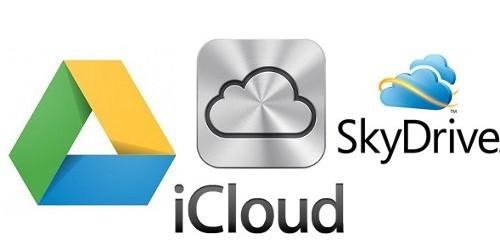 Google Drive vs SkyDrive vs iCloud