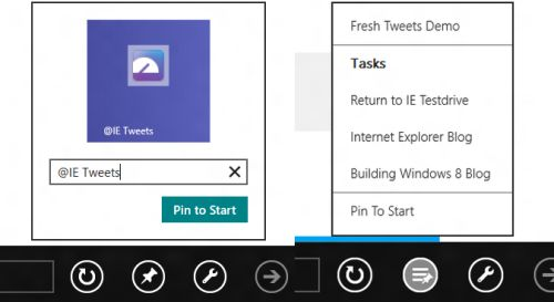 Internet Explorer 10 pinning Windows 8
