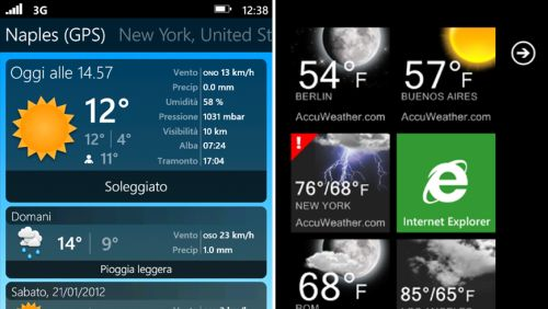 Meteo app Windows Phone