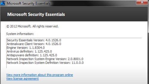Microsoft Security Essentials 4.0