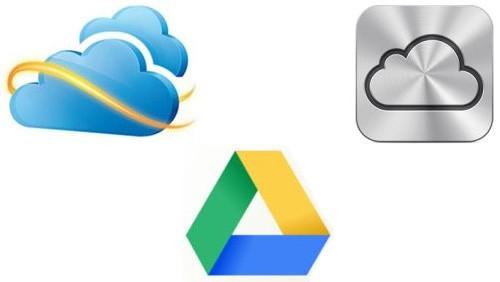 Microsoft SkyDrive - Google Drive - Apple iCloud
