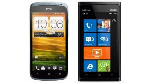 Nokia Lumia 900 - HTC One S