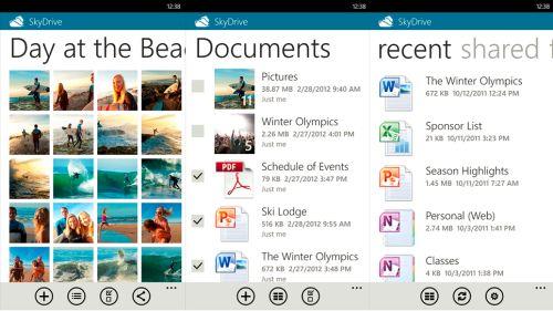 SkyDrive 2.0 per Windows Phone
