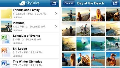 SkyDrive per iOS