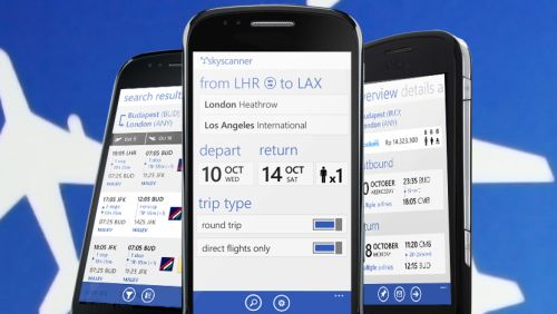 Skyscanner per Windows Phone