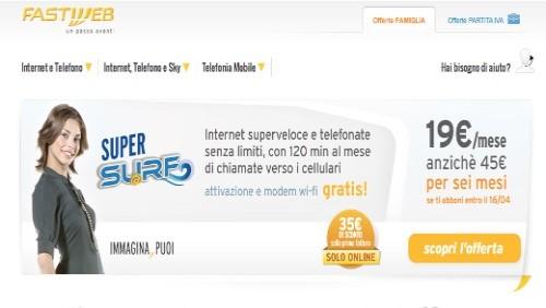 fastweb, promozione super surf