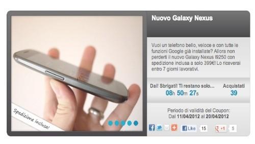 groupalia, galaxy nexus a 399€