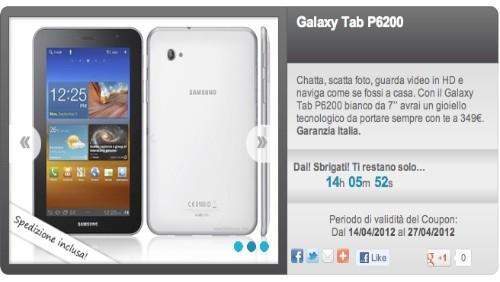 groupalia, galaxy tab 7.0 plus a 349€