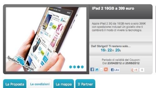 groupalia, macbook air a 799 euro e ipad 2 a 399 euro