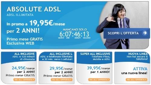 Infostrada: canone scontato per due anni per chi si abbonerà a Absolute ADSL, All Inclusive e All inclusive L